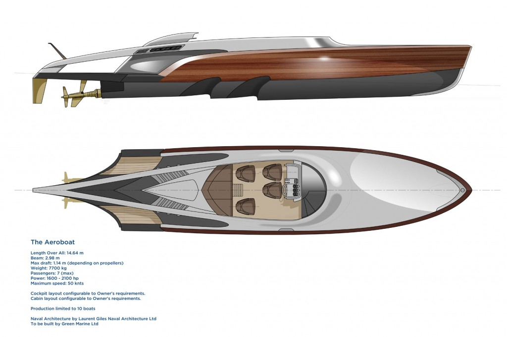 Aeroboat Side Plan